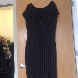 Black Knit/sweater dress with silver detailing